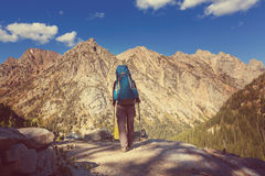 Hike in Grand Teton Royalty Free Stock Photography