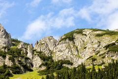 Hike the high mountains Royalty Free Stock Images