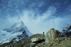 Hike in Himalayan Stock Photography