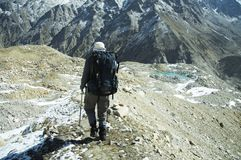 Hike in Himalayan Stock Images