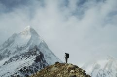 Hike in Himalayan stock image
