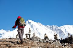 Hike in Himalayan Royalty Free Stock Images