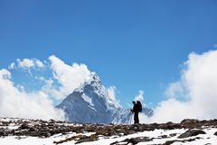 Hike in Himalayan Royalty Free Stock Image