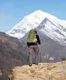 Hike in Himalayan Royalty Free Stock Photography