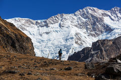 Hike in Himalayas Royalty Free Stock Photography