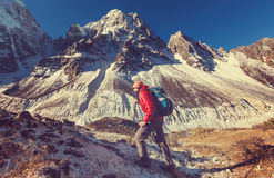 Hike in Himalayas Royalty Free Stock Photo