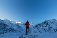 Hike in Himalayas Royalty Free Stock Photos