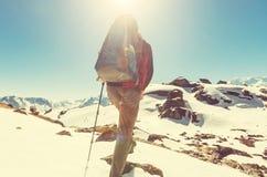 Hike in Himalayas Stock Photos