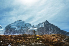 Hike in Himalayas Stock Images
