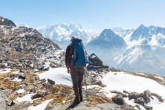 Hike in Himalayas Royalty Free Stock Images