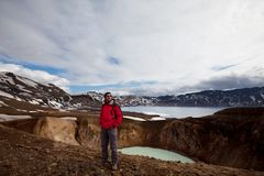 Hike in Iceland Stock Image