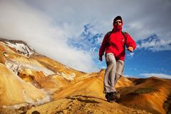 Hike in Iceland Stock Photography