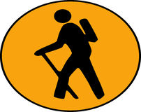 Hike icon Stock Images