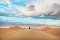 Free Hike In Sand Desert Stock Photos - 123875483
