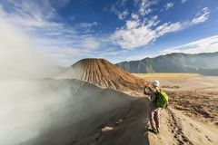 Hike in Indonesia Stock Photography