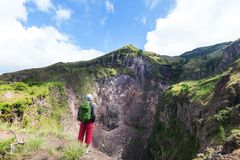 Hike in Indonesia Stock Photos