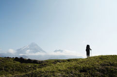 Hike in Kamchatka Stock Photo