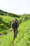 Hike on Kamchatka Royalty Free Stock Image