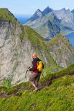Hike in Lofoten Royalty Free Stock Image