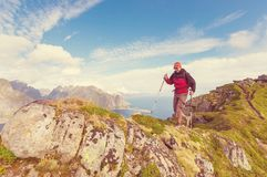 Hike in Lofoten Royalty Free Stock Images
