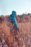 Hike through meadows in the wintertime Stock Photography