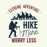 Hike more, worry less. Stock Photo