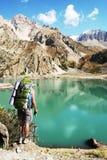 Hike in mountain Stock Image