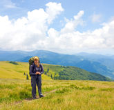 In hike in mountains Royalty Free Stock Images