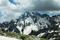 Hike in mountains Royalty Free Stock Photography