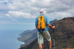 Hike in Na Pali. Coast in Kauai icland, Hawaii Stock Images