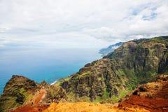 Hike in Na Pali. Coast in Kauai icland, Hawaii Stock Photos