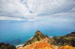 Hike in Na Pali. Coast in Kauai icland, Hawaii Royalty Free Stock Photo