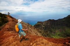 Hike in Na Pali Stock Images