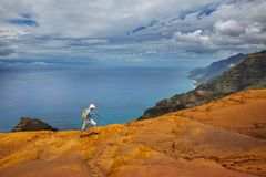 Hike in Na Pali royalty free stock images
