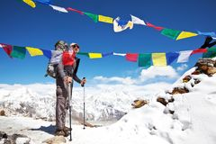 Hike in Nepal Stock Photography