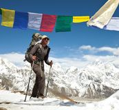 Hike in Nepal Stock Images
