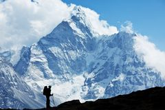 Hike in Nepal Royalty Free Stock Photos