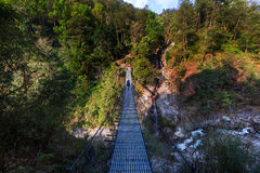 Hike in Nepal jungle Royalty Free Stock Photography