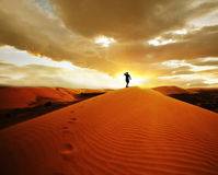 Hike no deserto imagem de stock royalty free