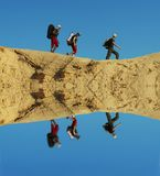 Hike no deserto foto de stock royalty free
