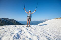 Hike in North Cascades Stock Photo