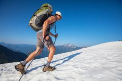 Hike in North Cascades Stock Photography