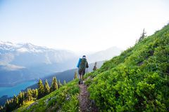 Hike in North Cascades Royalty Free Stock Photography