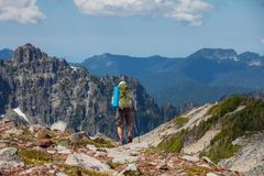 Hike in North Cascades Royalty Free Stock Images