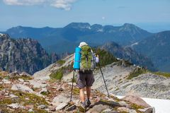 Hike in North Cascades Stock Images
