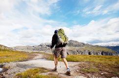 Hike in Norway Stock Image