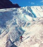 Hike in Norway. Mountains, Svartisen Glacier royalty free stock photos