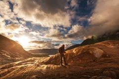Hike in Norway Stock Photo