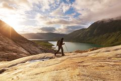 Hike in Norway Royalty Free Stock Image