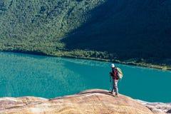 Hike in Norway. Mountains,Svartisen Glacier royalty free stock image